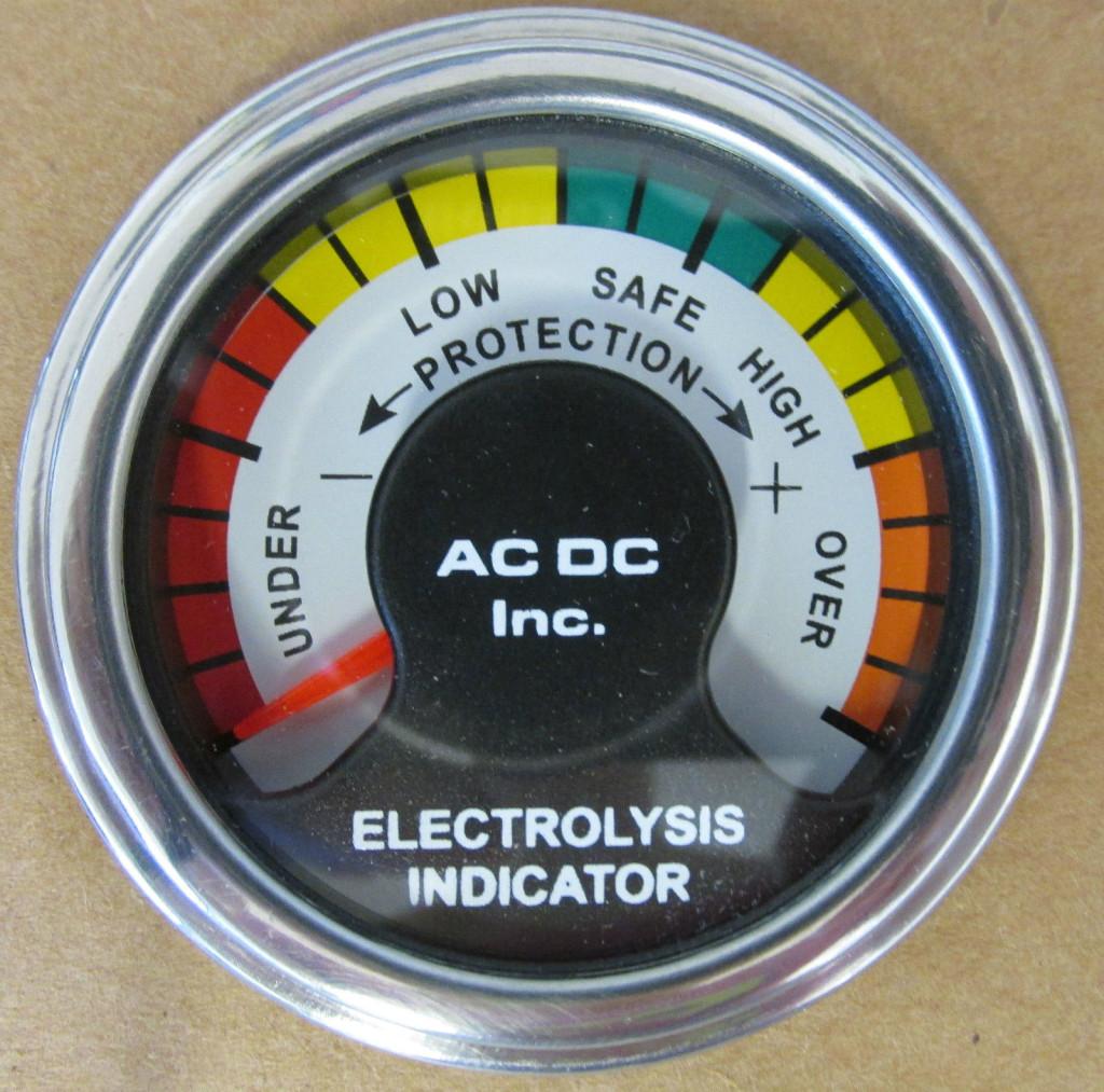 Marine Electrolysis Corrosion Monitor With Face Plate  U2013 Ac