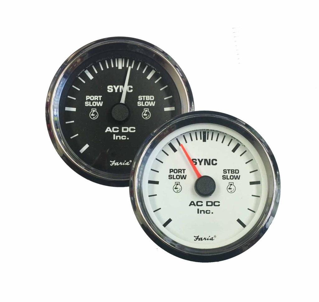 Dual Engine Synchronizer Gauge ndash AC DC Marine Inc
