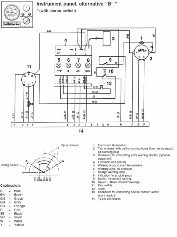 volvo d4 alternator wiring diagram volvo penta wiring