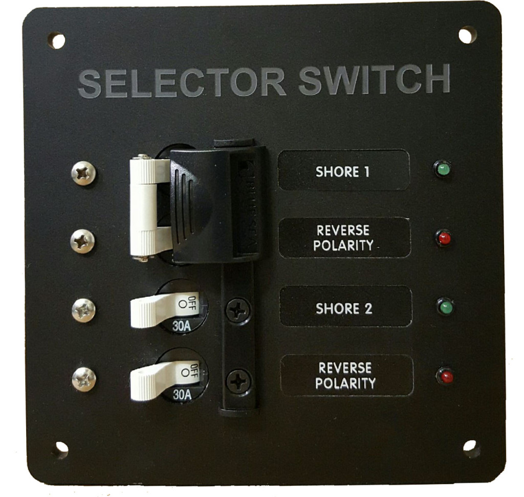 shore 1  u0026 shore 2 selector switch panel  black  u2013 ac dc